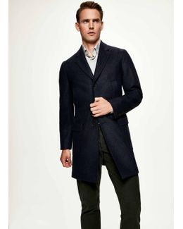 Navy Double Faced Jacket