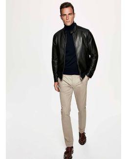 Rubberised Leather Jacket