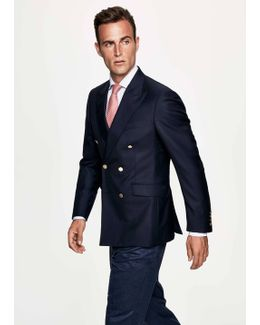 Navy Double-breasted Blazer