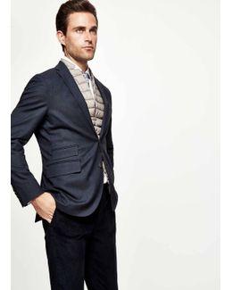 Stretch Wool Cotton Suit Jacket