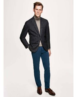 Stretch Micro Herringbone Suit Blazer