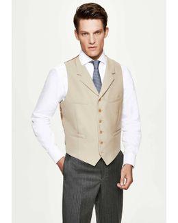 Wool Single Breasted Morning Waistcoat