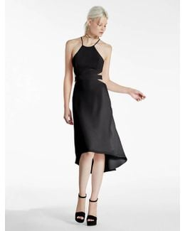 Crepe Dress With Cutouts