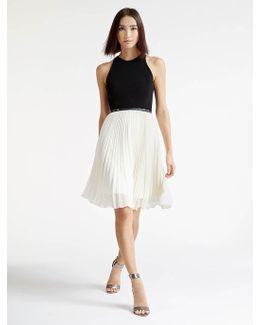 Crepe / Georgette Colorblocked Dress