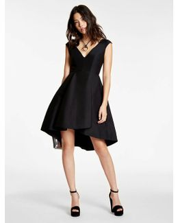 Silk Falle Structured Dress