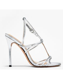 Anita Metallic Leather High Heel Sandal