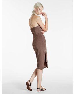 Strapless Ultrasuede Dress