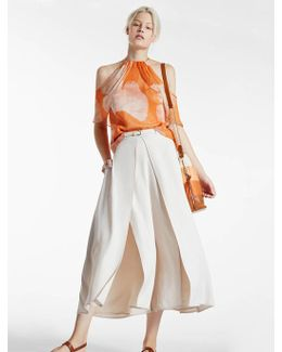 Lightweight Flowy Culotte With Slits