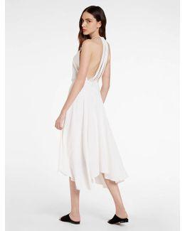 Back Multi Strap Crepe Dress