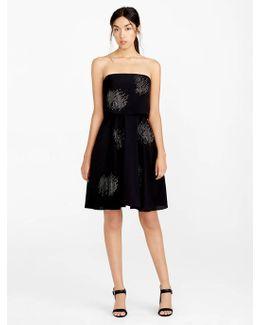 Strapless Embellished Crepe Dress