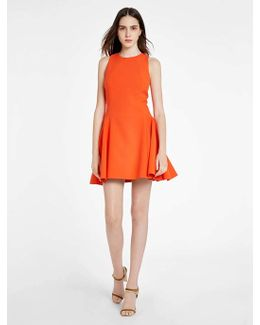 Structured Mini Dress With Back Opening