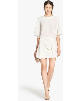 Origami Fold Mini Skirt