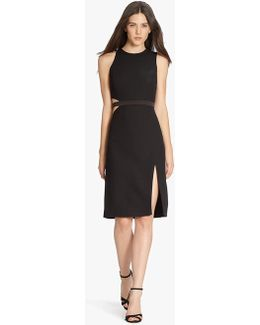 Crepe Dress With Side Cut Out