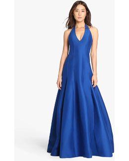 Silk Faille Tulip Skirt Gown