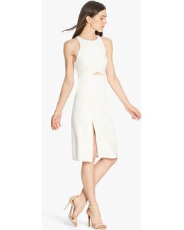 Slim Fitted Dress With Cut Out