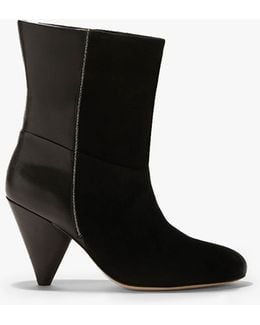 Molly Leather and Suede Combined Boots