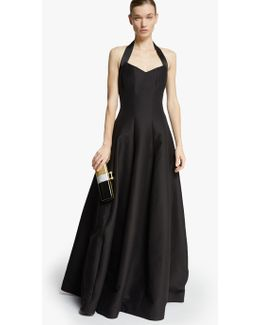 Halter Silk Faille Gown