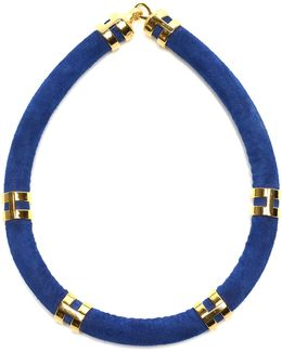 Double Take Necklace In Cobalt