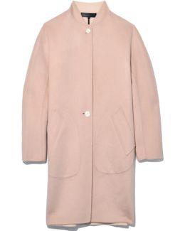 Darwen Coat In Dusty Rose
