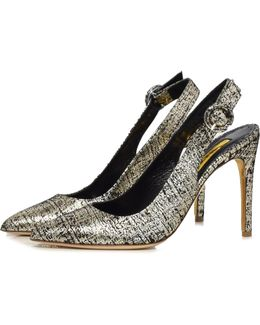 Diana Tweed Pump In Platinum