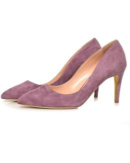 Nada Suede Pump In Mulberry