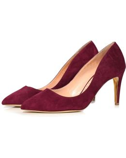 Nada Suede Pump In Sangria