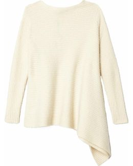 Asymmetrical Sweater In Ivory