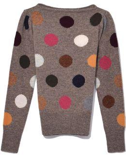 Polka Dot Sweater In Multi
