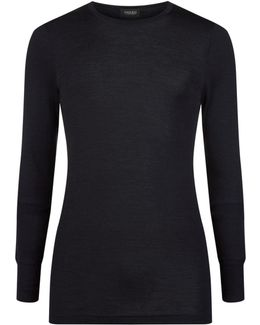 Woollen Silk Long Sleeve T-shirt