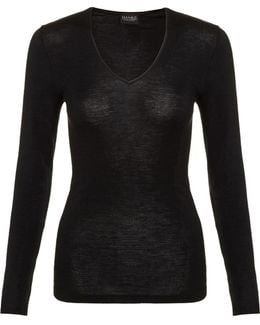 Wool And Silk Long Sleeve Top