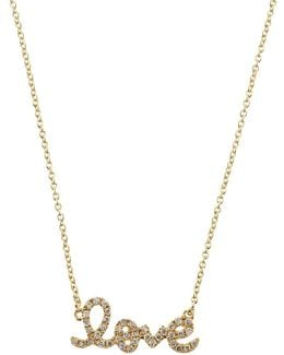 Love Script Necklace