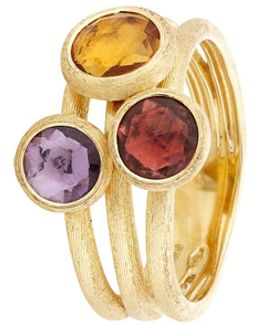 Jaipur Triple Stone Ring