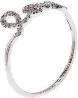 Love Script Diamond Ring