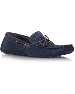Woven Suede Moccasin