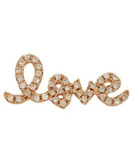 Love Stud Earring