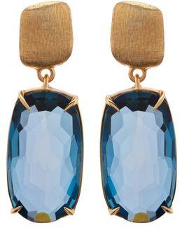 Murano Topaz Drop Earrings