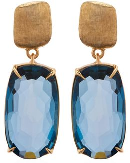 Murano Topaz Drop Earrings