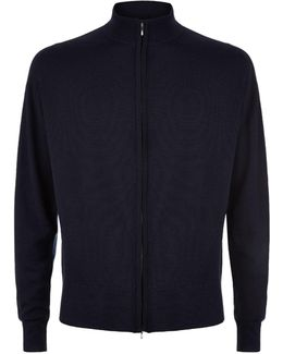 Easy Fit Merino Wool Zip-through Sweater