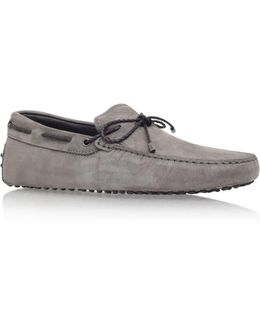 Laced Gommino Nubuck Driving Shoe