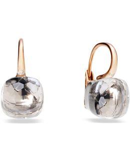 Nudo Clear Topaz Rose Gold Earrings