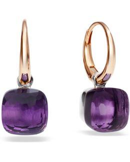 Nudo Amethyst Rose Gold Earrings