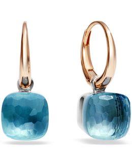 Nudo Blue Topaz Rose Gold Earrings
