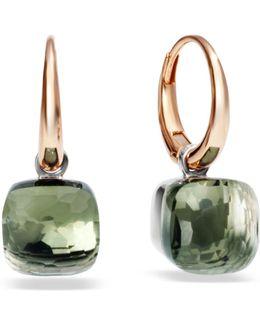 Nudo Prasiolite Rose Gold Earrings
