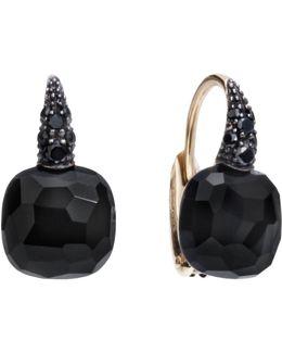 Onyx Rose Gold Capri Earrings
