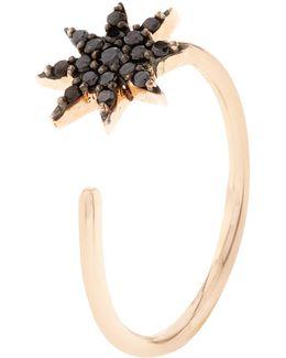 Large Black Diamond Ishtar Ring