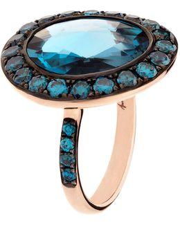 Dusty Diamonds Topaz Ring