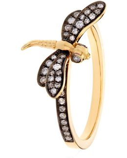 Love Diamonds Dragonfly Ring