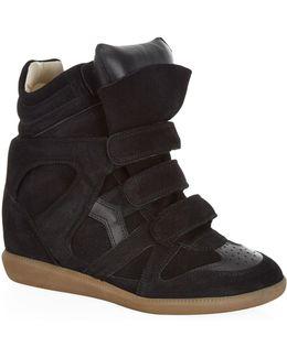 Bekett Suede Wedge Sneaker