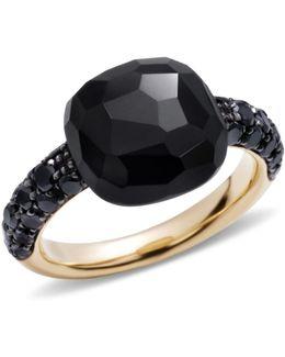 Onyx Rose Gold Capri Ring