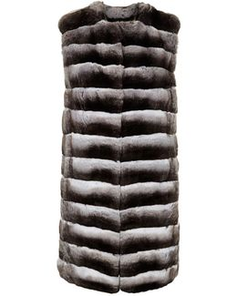 Long Chinchilla Gilet